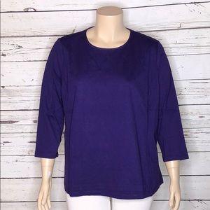 Lauren Ralph Lauren NWT 3X Grape Purple Knit Top
